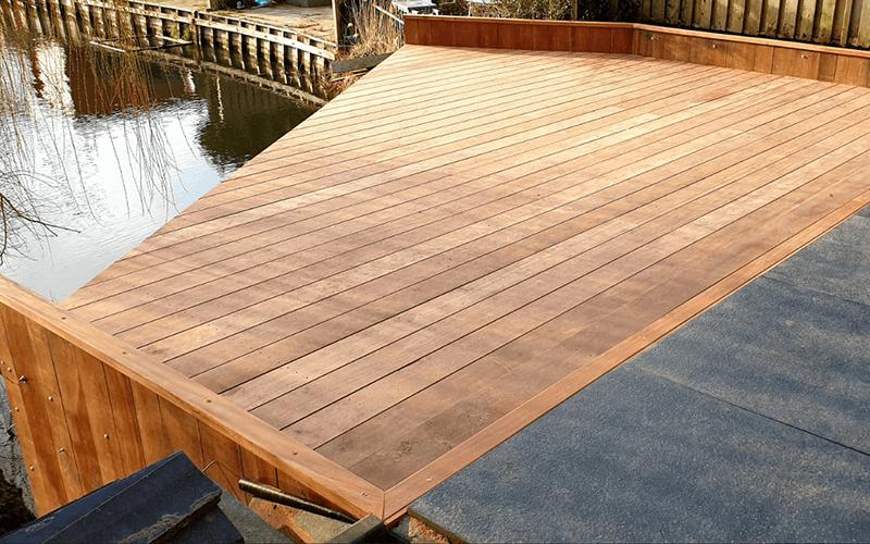 houten damwand