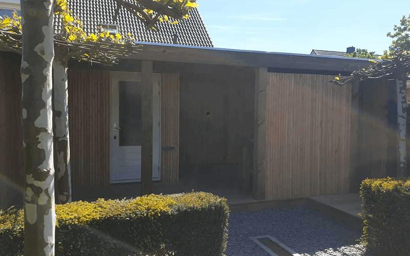 Overkapping van Douglas hout