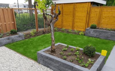 Moderne kindvriendelijke tuin