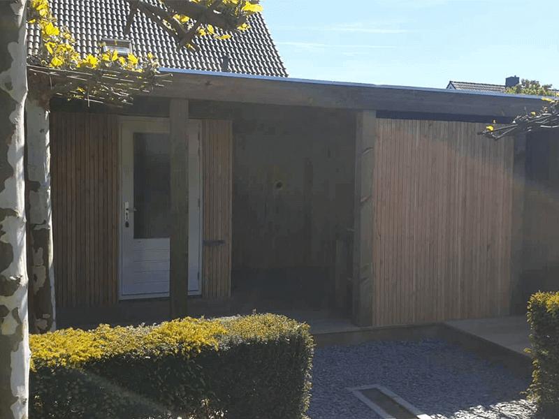 houten overkapping op maat