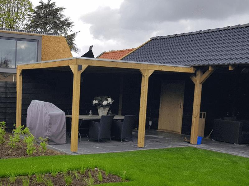 houten terrasoverkapping